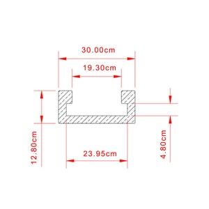 Image 4 - 1220mm T Track Slot Slide Slab t slot t track prowadnica ukośna oprawa gniazdo Router stół narzędzia do obróbki drewna 30 typ