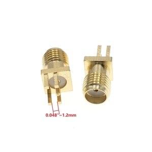 "Image 3 - 100Pcs Gold Sma buchse Lot PCB Clip Kante Montieren RF Adapter Stecker 0,062 oder 0,048"" 0,031"""