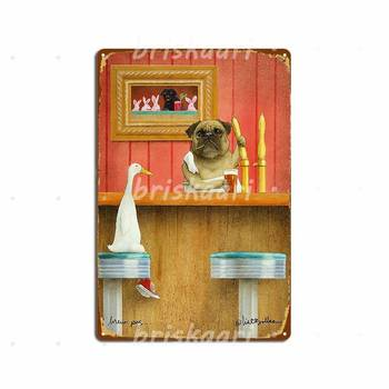 Will Bullas Brew Pug Metal Signs Cave Pub Club Home Create Metal Posters image