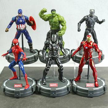 7 #8222 Iron Man MK85 Spiderman kapitan ameryka Thor wojna maszyna czarna pantera Hulk Thanos figurka ZD Marvel Avengers zabawki tanie i dobre opinie Disney Model 4-6y 7-12y 12 + y CN (pochodzenie) Unisex not for children under 3 years 18~22cm On Avengers Wersja zremasterowana