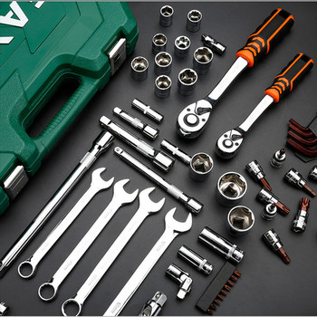 New General Household Car AUTO Repair Tool Kit with Plastic Toolbox Storage Case Socket Ratchet Wrench