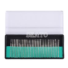30 Pcs 1 Set Dental Diamond Burs Millers Tooth Drill Jewelers Dentist Lab 2.35mm dental tool color silver and golden