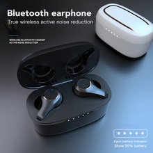 ANC TWS V5.0 Bluetooth Earphone Wireless Waterproof Dual Mic Active Noise Cancelling Touch Adjust Volume Earbuds Headset Type-c