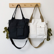 White Canvas Handbags Big Women Bag High Quality Casual Female Bags Trunk Tote Spanish Brand Shoulder Bag Ladies Large Bolsos