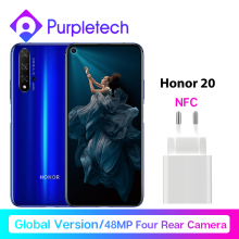 Global Version Honor 20 Smartphone Kiri 980 Octa Core 6.26'' 6GB128GB 48MP Four Camera SuperCharge