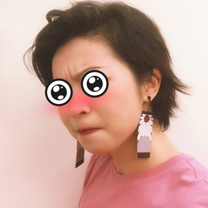 Demon Slayer Kimetsu no Yaiba Tanjirou Kamado PVC Earrings Cosplay Props 1 Pair
