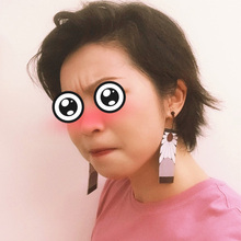 Japonais Anime démon tueuse en gros Cosplay Prop Kimetsu pas Yaiba Tanjirou Kamado 1 paire boucles d'oreilles accessoires Cosplay