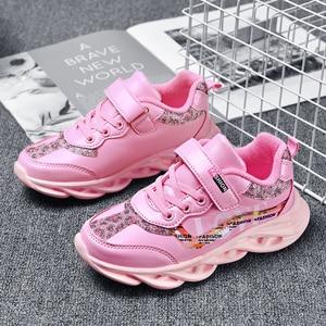 Image 3 - Mode Kinderen meisje Schoenen Ademend Baby Schoenen Sneakers Zachte Bodem antislip Casual meisje Schoenen