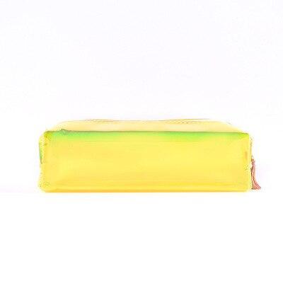 Желтый чехол для карандашей (чехол для карандашей OPPO) крутая лазерная прозрачная цветная сумка для карандашей оригинальная сумка для