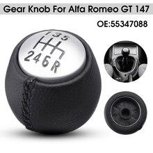 6 скоростей автомобиля ручной рычаг переключения передач из искусственной кожи рычаг переключения гандбол для Alfa Romeo GT 147 166