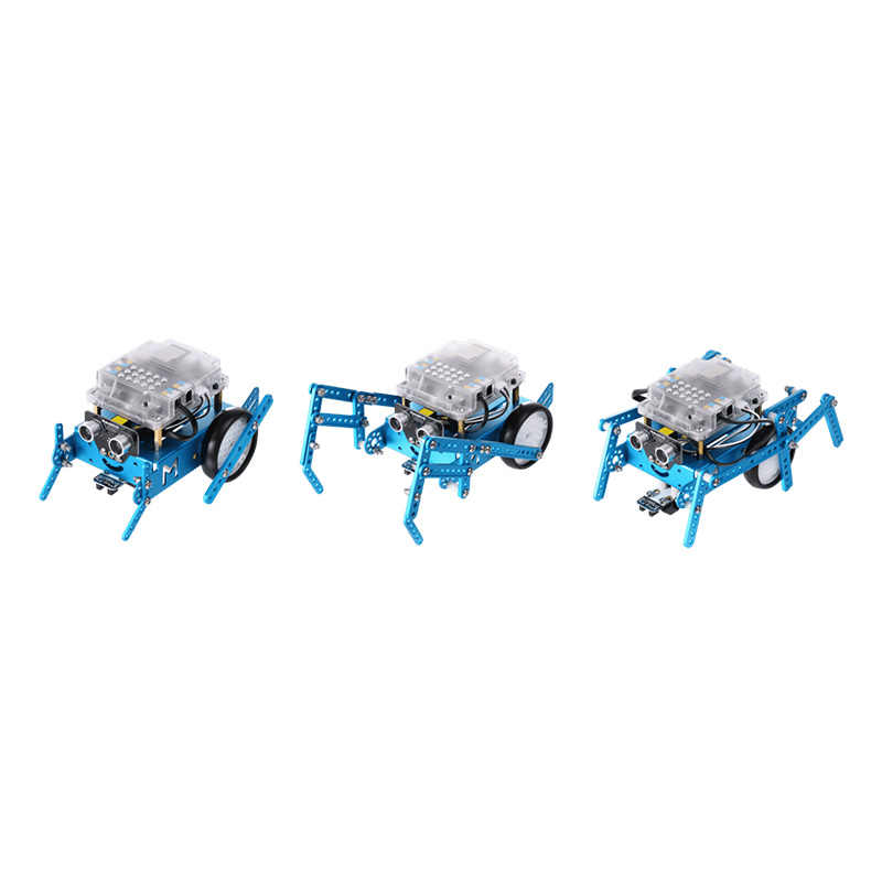Makeblock Berkaki Enam Robot Add-On Pack Dirancang untuk Mbot, 3-In-1 Robot Add-On Pack, 3 Bentuk