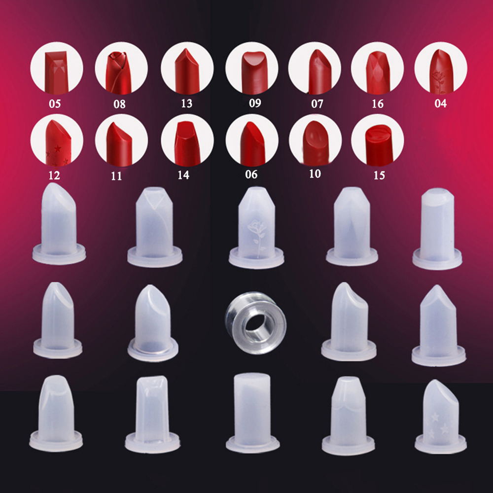 Lipstick DIY Mould Lip Balm Mold Silicone Makeup Crafts Tool For 12.1mm Tube Lip Makeup Tools DIY Crafts Cosmetic Container