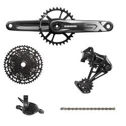 Sram sx eagle kit de pedal e câmbio de bicicleta, groupset com 12 velocidades, 1x12 11-50t, dub bb, corrente de desviador com alavanca de câmbio, gatilho pedaleira com cassete nx eagle