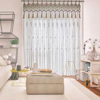 Macrame Curtain Wall Hanging, Doorway Window Curtains Handwoven Wedding Backdrop Arch, Closet Room Divider Boho Wall Decor