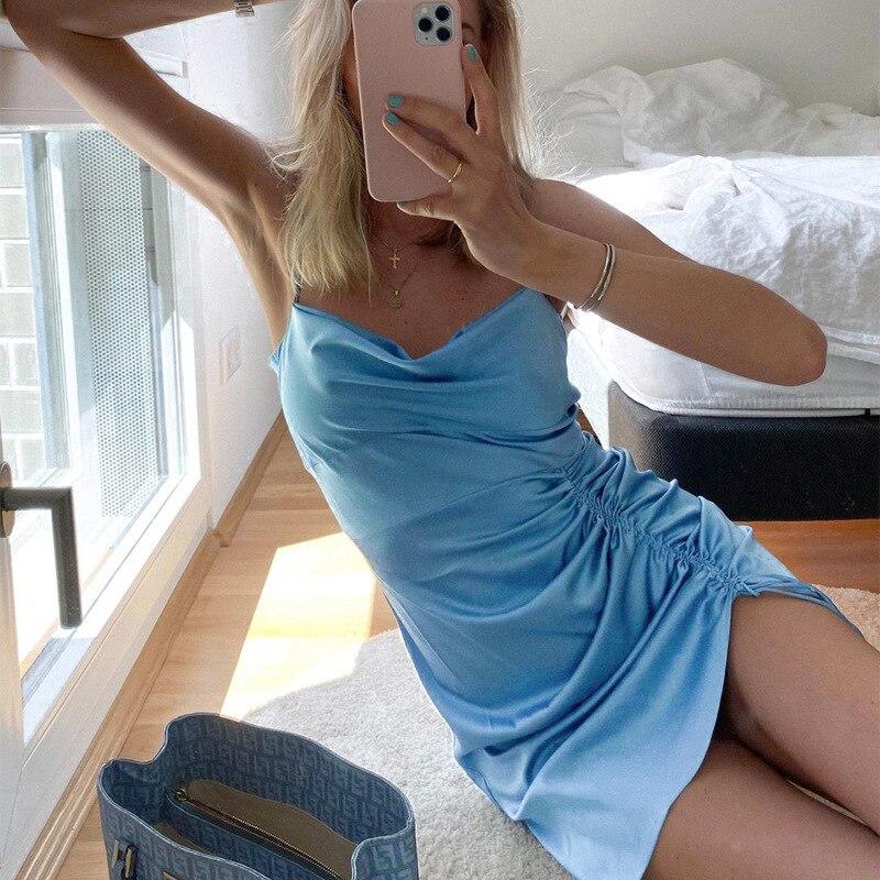 Ruched Mini Dress