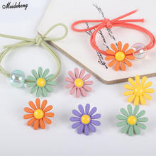 Fashion Flower DIY Jewelry Accessory Beads Through hole Fresh Ring  Handmade Hairdressing Material Decoration