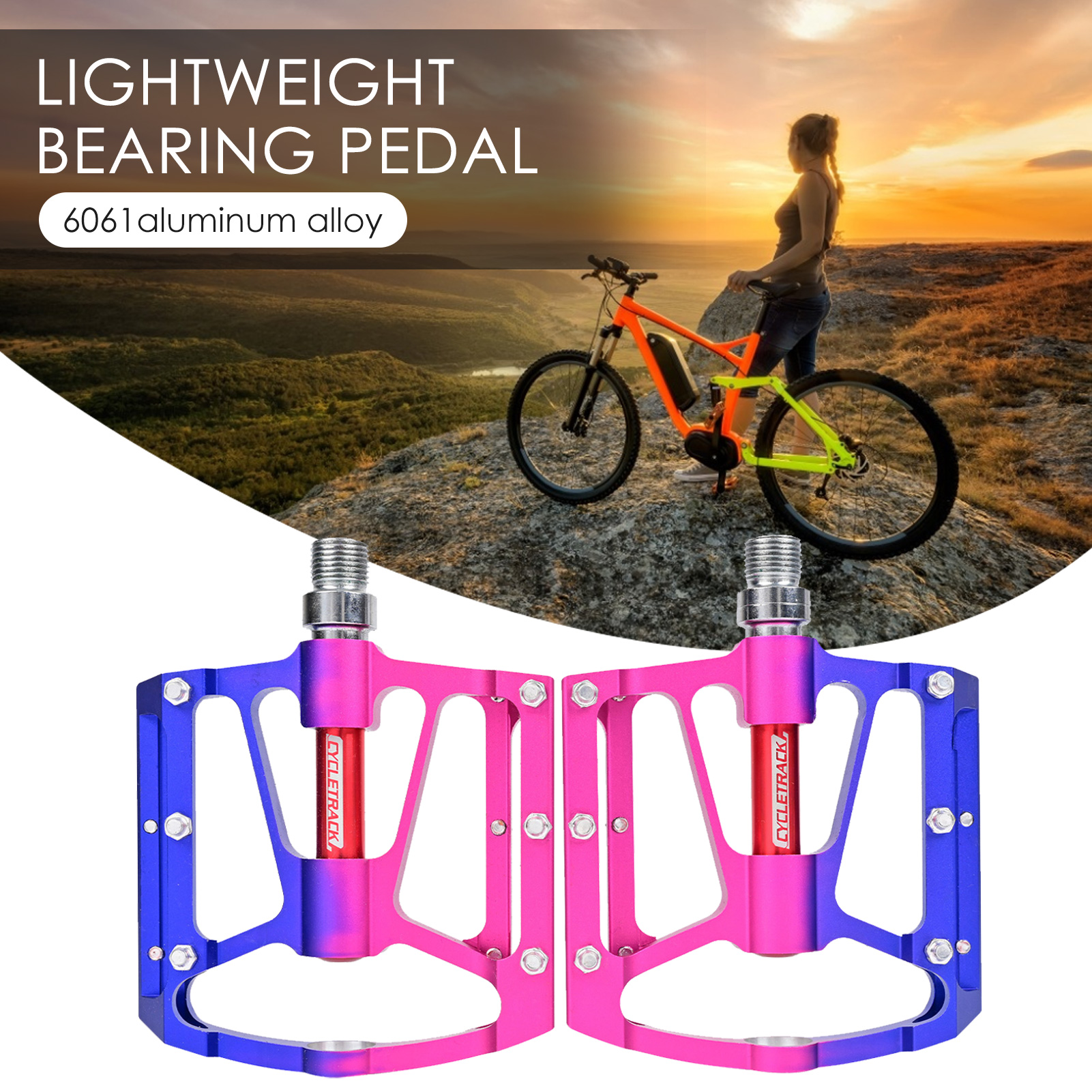 CNC Bicycle Pedals Quick Release Anti-slip MTB Bike Pedal Road Bike Cycling Part