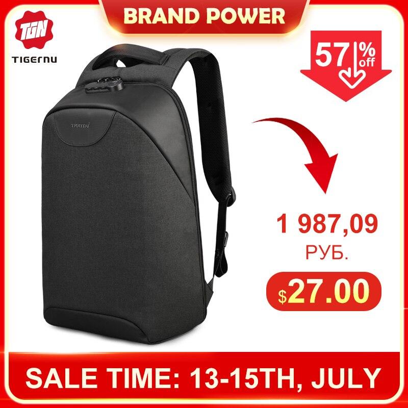 No Key Anti theft TSA Lock Fashion Men Backpacks 15.6inch USB Charging Laptop Male Mochila 18L College School Backpack for Boys(China)