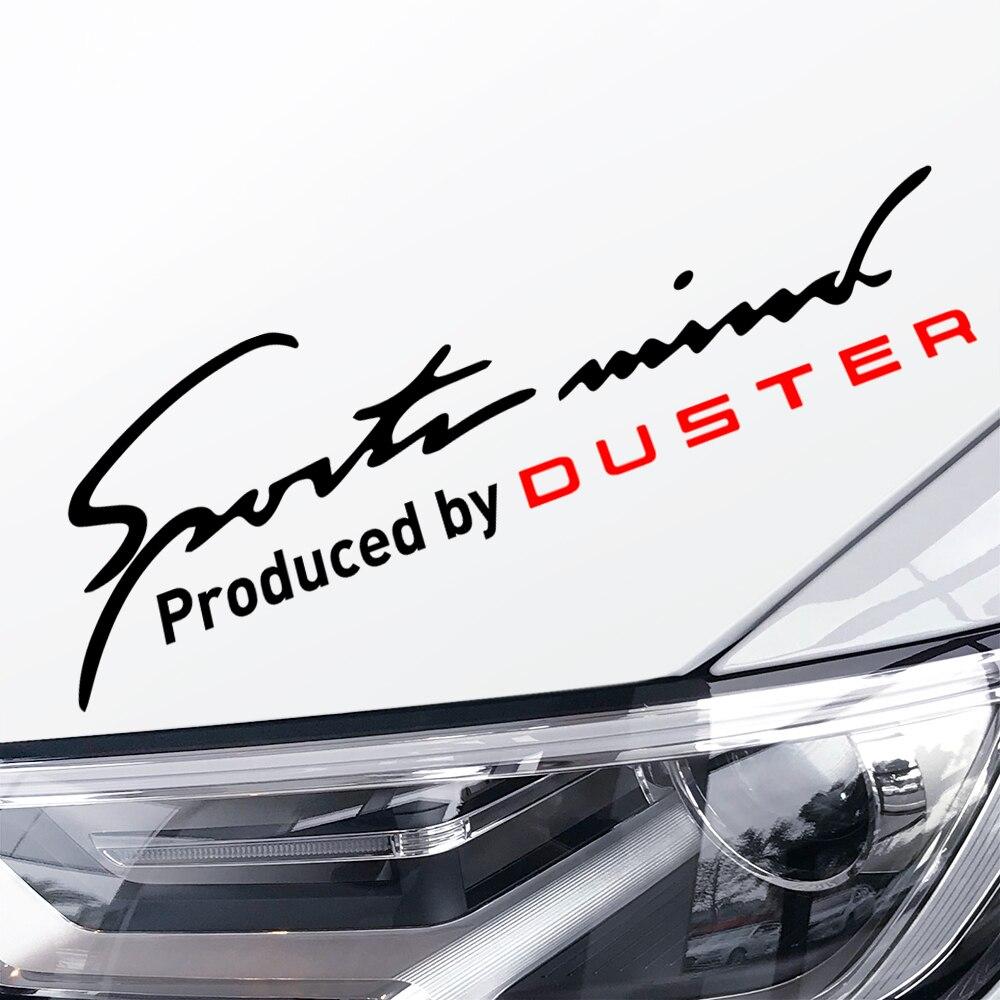1pc adesivos de carro lâmpada reflexiva sobrancelha para renault dacia duster cativante esportes corrida automóvel vinil decoração acessórios