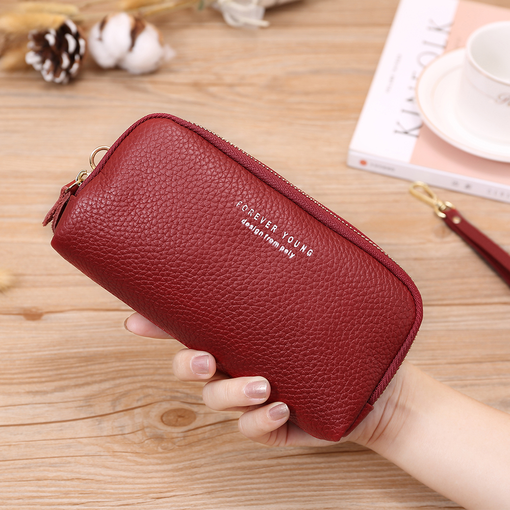 X.D.BOLO 2019 Fashion Leather Women Wallet High Capacity Credit Cards Luxury Brand Leather Clutch Womens Wallets And Purses
