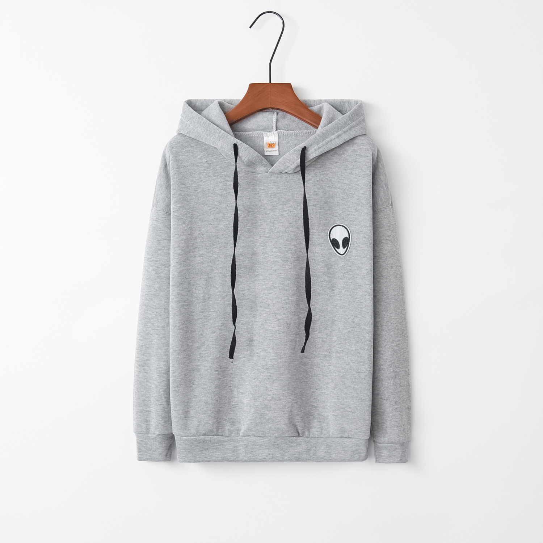 Alien Hooded Grey 2020 New Design Hot Sale Hoodies Sweatshirts Women Casual Kawaii Harajuku Sweat Girls European Tops Korean