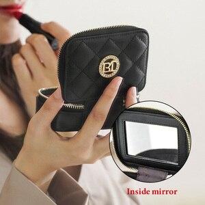 Image 4 - LAORENTOU bolso de pintalabios para niña, bolso de cuero femenino para cosméticos, pendiente elegante bolso de espejo para mujer, estuche cosmético para mujer, monedero para Pintalabios