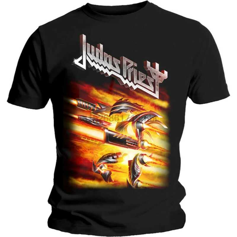Judas Priest Feuerkraft Rob Halford Heavy Metal T T-Shirt Herren