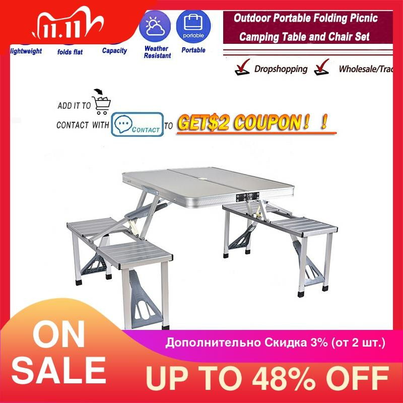Hot Offer 46 Off Delivery Normal Outdoor Folding Table Chair Camping Aluminium Alloy Picnic Table Waterproof Ultra Light Durable Folding Table