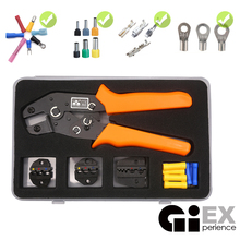 Crimp Pliers Multiple Crimping Dies Set Wire Dupont Terminals Tools Electrician Connector Multitool (Gift Some Wire Terminal)