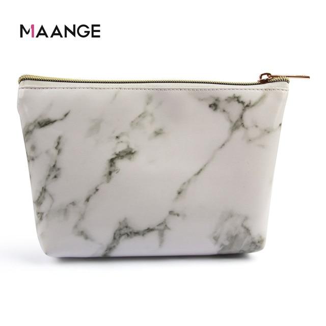 Manufacturers Direct Selling Maange Maange Marbling Cosmetic Bag Makeup Tool Portable Cosmetic Bag Cross Border Hot Sales 2