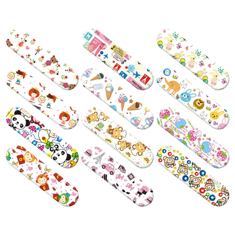 For Children Kids Care 120Pcs/Set Cartoon Bandages Adhesive Bandage Wound Plaster First Aid Hemostasis Band Aid Sterile Stickers