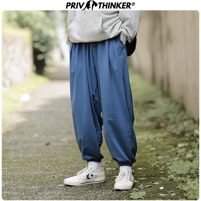 Privathinker Men Gray Pockets 2020 Casual Harem Pants Mens Loose Teen Wide Leg Pants Male Streetwear Fashions Loose Trousers