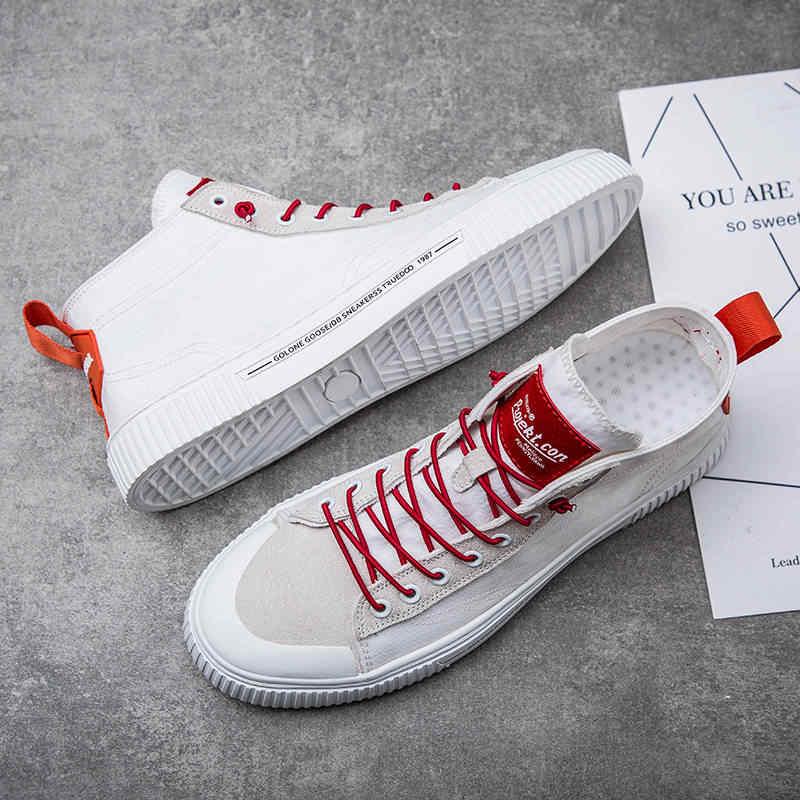 Männer Leinwand Schuhe Marke Atmungsaktiv Hohe hilfe Plattform Turnschuhe Männer Männlichen Flache Schuhe Casual Schuhe Herren Wohnungen Mokassin Homme 2019