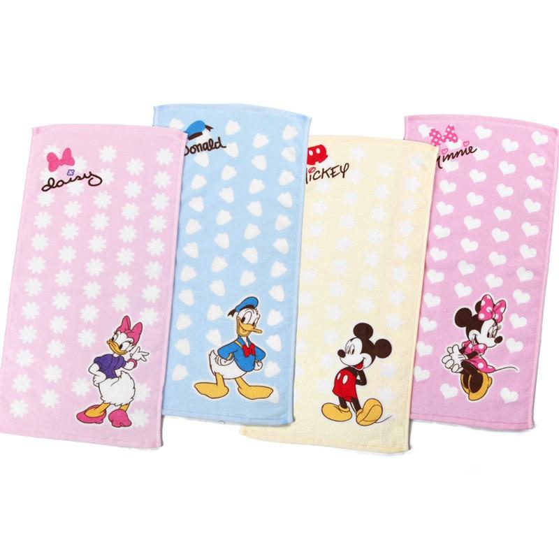 Disney Baby Towel Kids Pure Cotton Bath Towel Cartoon Wash Hand Towel For Newborns Soft FaceTowel 25x50cm