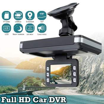 720P Built in GPS Speed Coordinates DVR 5MP Car Camera Dash Camera Radars Laser Speed Detector Night Vision Dashcamera 24H Park image