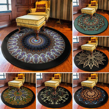 3D Mandala Floral Pattern Round Carpets for Living Room Bedroom Area Rug Bohemia Ethnic Home Carpet INS Kids Play Tent Floor Mat