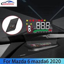 цена на XINSCNUO Car HUD Head Up Display For Mazda 6 For Mazda6 Atenza 2020 OBD Speedometer Projector Airborne computer