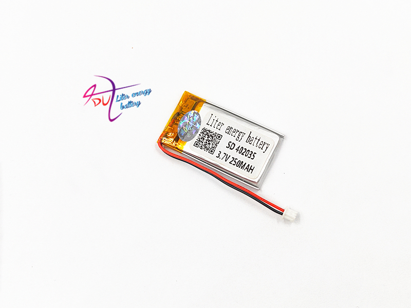 3.7V 250mAh <font><b>battery</b></font> JST 1.5mm 2 pin <font><b>402035</b></font> Lithium Polymer LiPo Rechargeable Handheld Navigator <font><b>Battery</b></font> Mp3 GPS bluetooth image