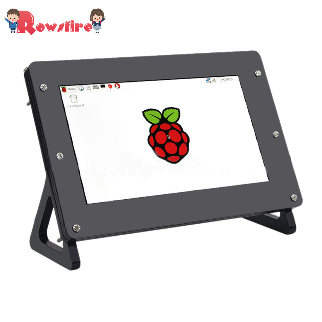 Acrylic Protective Shell For Raspberry Pi 3B+/3B/2B 7-Inch Split Screen