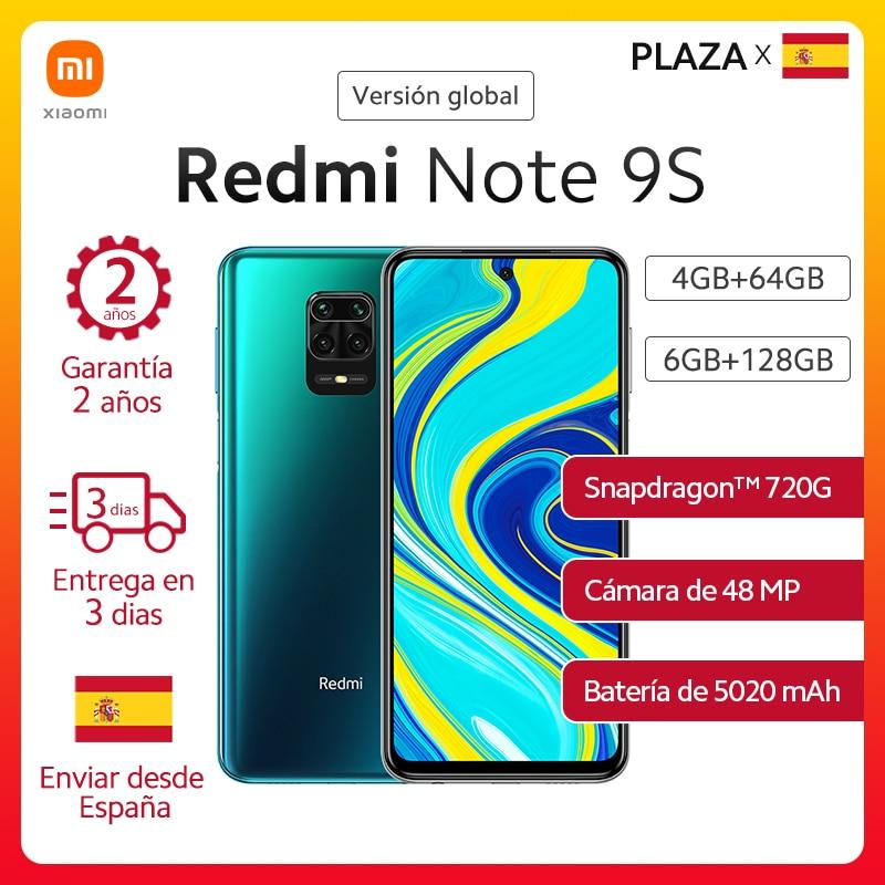 "Nuevo Xiaomi Redmi Note 9S versión Global 6GB 128GB Nota 9 S Snapdragon 720G 6,67 ""FHD DotDisplay 5020mAh 48MP AI Cámara 18W FC|Teléfonos móviles| - AliExpress"
