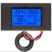 Цифровой вольтметр Амперметр переменного тока 80-260 В 0-100А тестер энергии питания 110 В 220 В измеритель напряжения тока мощность ваттметр адаптер питания