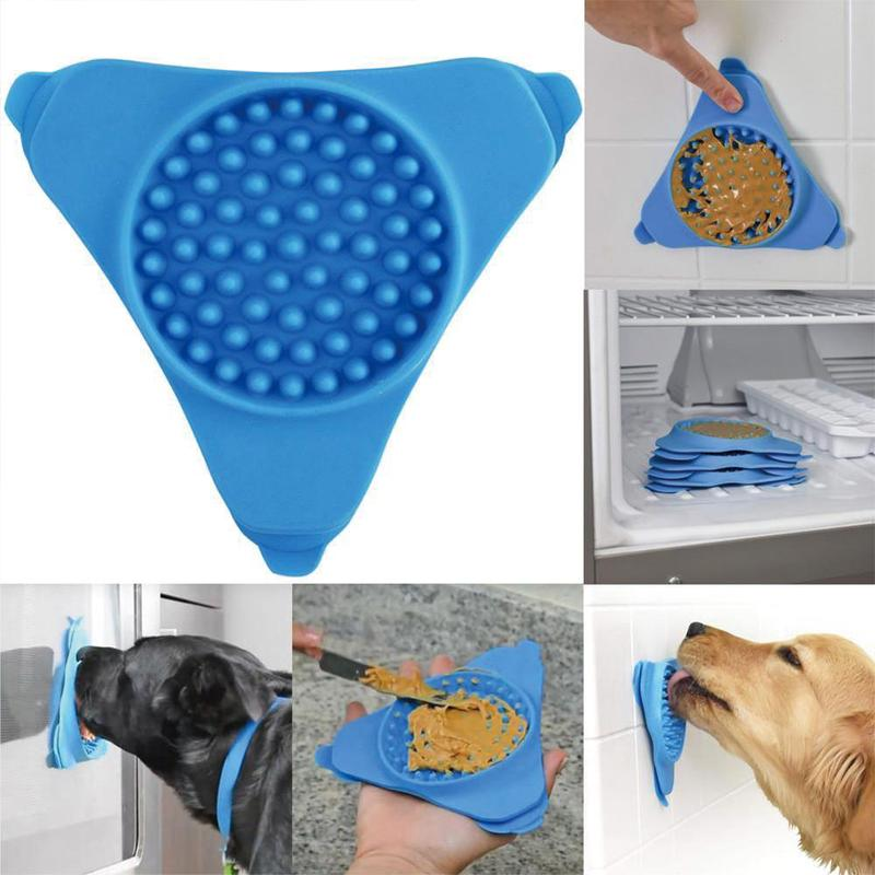 Creative Pet Sucker Pet Bath Treater Wall Mounted Dispensing Cup Silicone Dog Lick Distract Mat Training Bathing Pet A1O6