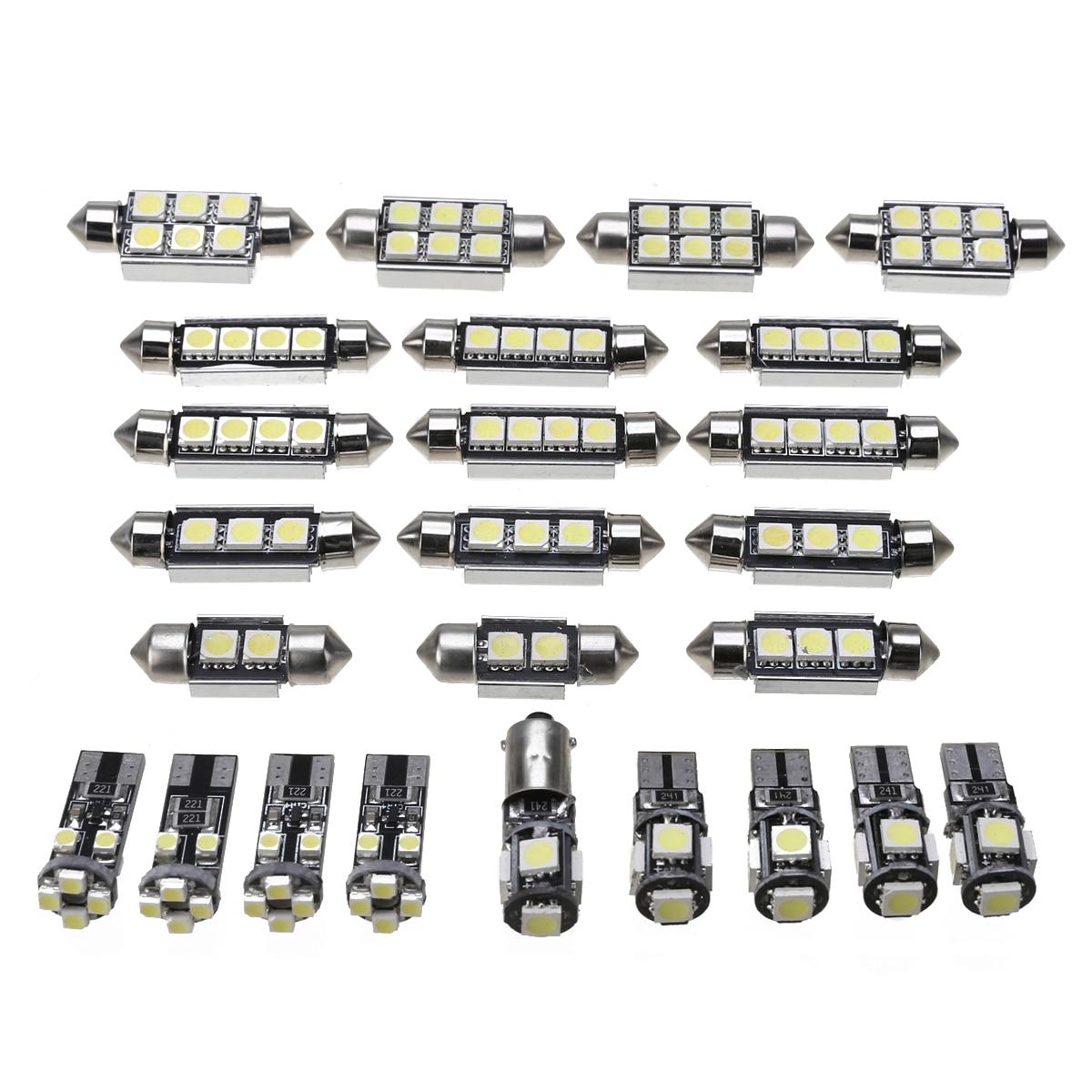 25 stücke 12V T10 BA9S 5050 Girlande Licht Auto LED Innenraum Lampe Leuchtet Bulbs Kit Für BMW X5 E70 M 2007-2013