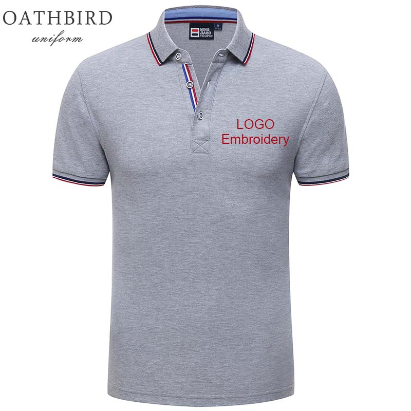 Image 2 - Atacado unisex design personalizado polo camisa com bordado seu próprio logotipo da empresaPolo