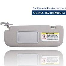 Motorista do carro lado sun viseira para hyundai Elantra11-15 sombra placa viseiras espelho de cosméticos luz 852103x000tx 852203x000tx
