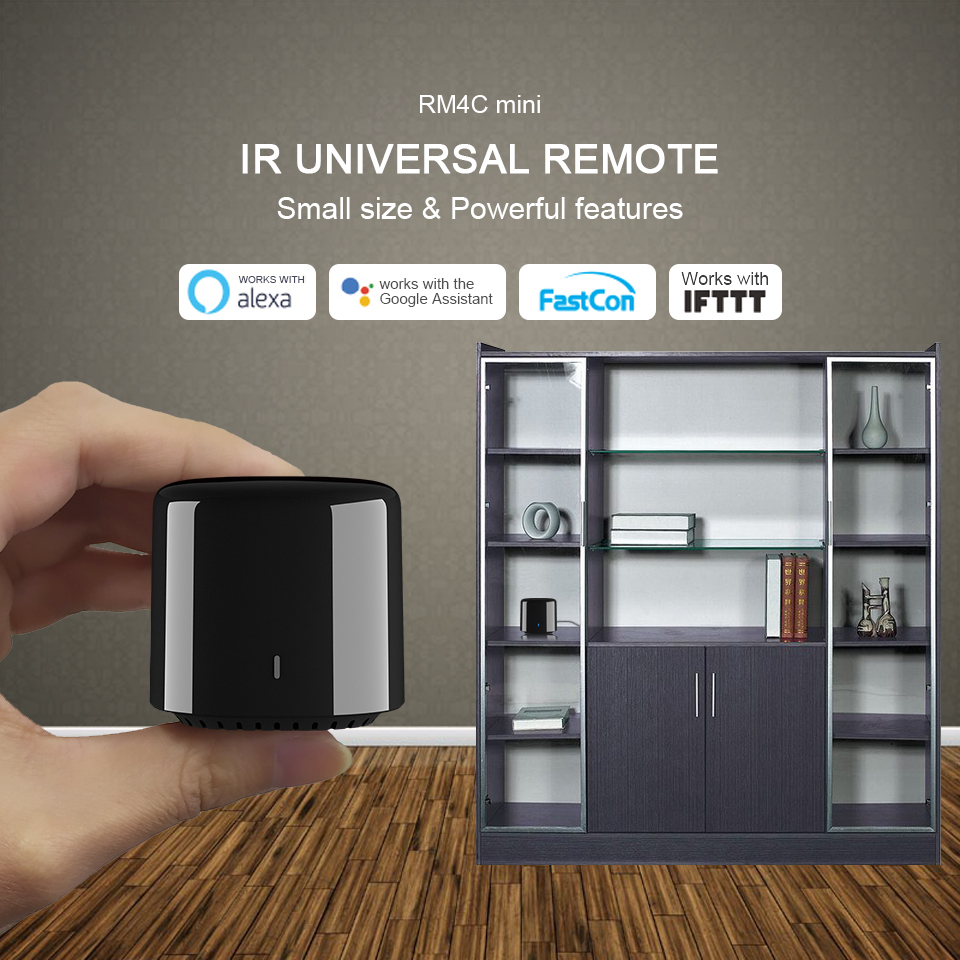 Broadlink RM4 Mini RM4C Mini RM 4pro Smart Home WiFi IR Remote Controller Automation Modules Compatible with Alexa Google Home
