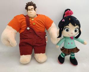 2pcs Official Ralph Plush Ralph Sugar Rush Stuffed Toy 'Kids Boys Toys for Children Gifts(China)