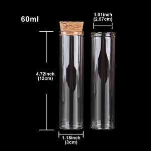 Image 2 - 24 قطعة 60 مللي حجم 30*120 مللي متر أنبوب اختبار مع سدادة الفلين زجاجات توابل جرار الحاويات قوارير DIY الحرفية