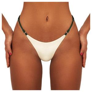 Swimwear Women Briefs Bikini Bottom Side Ties Brazilian Thong Swimsuit Classic Cut Bottoms Bikini Swim Short Ladies Swimsuit 1pc(China)