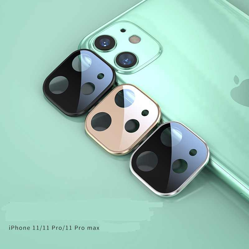 Metal Frame + Tempered Glass Back Full Cover Camera Lens Ring For iPhone 11 Pro Max lens Protector Rear Protection Ring линзы